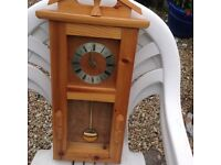 PIne Wooden CLock with Pendulum