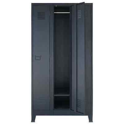 Locker Cabinet Wardrobe 3 Large Compartments Office Gym Changing Storage Organiz