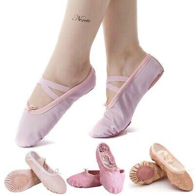 Slippers For Girl (Nexete Leather Ballet Shoes Slippers Split Sole Flats For Toddler Girl Boy Kid)