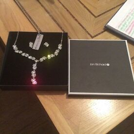 Jon Richards diamanté jewellery set