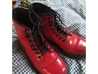 Red Dr.Martens size 2