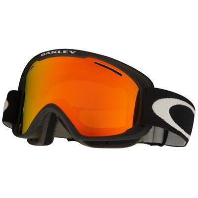 Oakley OO 7066-01 O2 XM Matte Black w/ Fire Iridium Lens Mens Snow Ski Goggles .