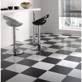 Contrast Satin Ceramic Floor Tiles - 330 x 330mm - White