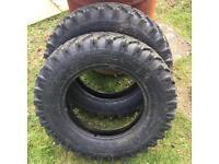 2 tyres 6.00 -16LT