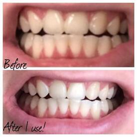 Whitening toothpaste!