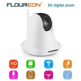 NEW SEALED FLOUREON WIRELESS HD 1080P IP SECURITY CAMERA