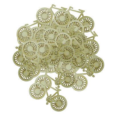 Unfinished Holz Fahrrad Ornamente Holz Scheibe Dekoration Handwerk ()