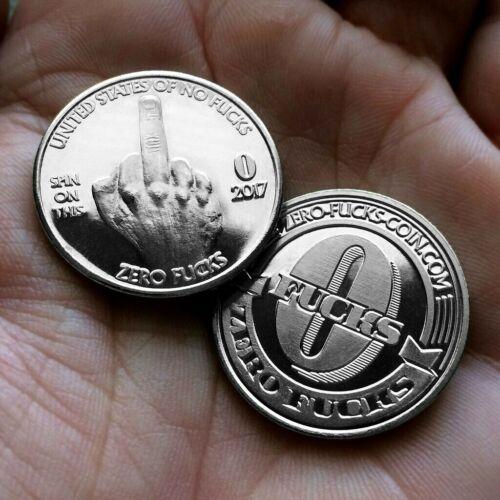 Zero F**ks - Middle Finger Novelty Coin