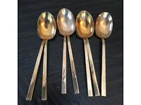 Solid bronze, vintage cutlery for 8 inc servers