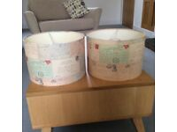 2 Lovely vintage French postcard lampshades