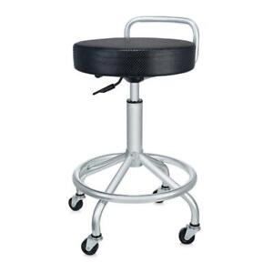 Seville Classics Ultra HD Cushioned Pneumatic Work Stool / Bar Stool. Seat. Adjustable Height. For Kitchen Office, Lab