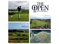 Accommodation for the Open 2019