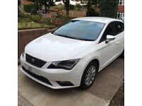 2013 63Plate Seat Leon Tech Diesel 1.6 White Manual Free Tax Sat Nav Cruise Control Serviced Valeted