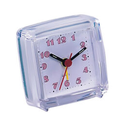 Battery Operated Portable Small Travel Alarm Clock Night Light Snooze 03