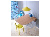 IKEA Drop-leaf table, bamboo/white