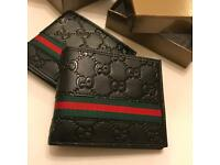 Gucci wallet for sale black leather with box