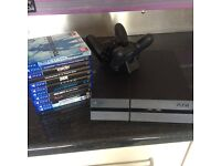 1tb ps4 slim, 13 games, 2 wireless controllers, mint condition with box