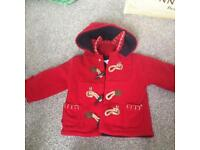 Baby red coat 3-6months
