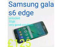 Samsung galaxy s6 edge unlocked 32gb very good condition