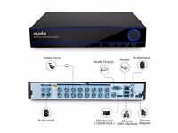 SANNCE 16CH Channel 1080N H.264 Surveillance HDMI DVR Network for CCTV Camera UK