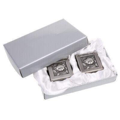 как выглядит Детская шкатулка My First Tooth & Curl Silver Trinket Box Set Keepsake Baby Shower Birthday Gifts фото
