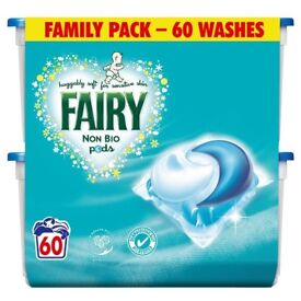 Fairy Non Bio Pods Washing Capsules 60 Washes Family Pack