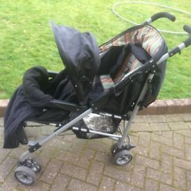 Mothercare twin Horton pushchair