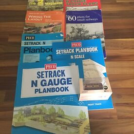 7 x N'GAUGE RAILWAY MAGAZINES & BUS