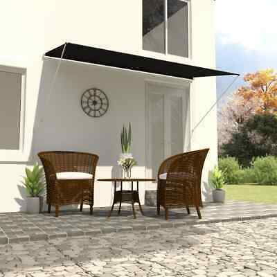 vidaXL Retractable Awning 250x150cm Anthracite Window Door Canopy Sun Screen