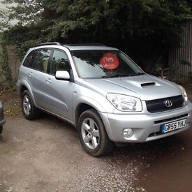 2005/55 TOYOTA RAV4 XT5 2.0 DIESEL 5 DOOR SILVER LEATHER TRIM HPI CLEAR