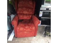 Electric lifter recliner chair.