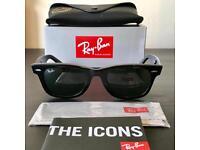Ray bans 5022 gloss black wayfarer uv400 - free postage