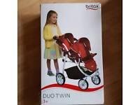 Children's britax duo twin pushchair 3+