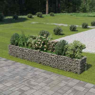 vidaXL Gabion Planter Galvanised Steel 360x50x50cm Stone Basket Raised Bed