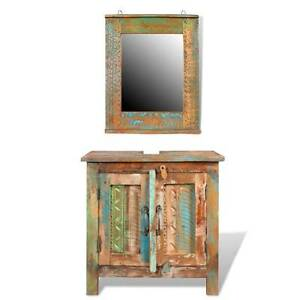 Solid Wood Bathroom Vanity Cabinet Set with Mirror(SKU241134) Mount Kuring-gai Hornsby Area Preview