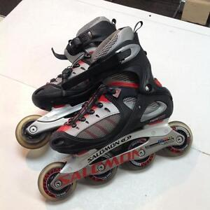 Salomon Roller Blades -U size 6.5- black/red/ grey (sku: Z14885)