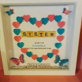 Personalised sister, family tree box frame