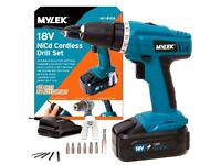The MYLEK 1 Speed 18V cordless drill/driver - New / Boxed