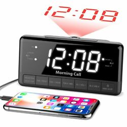 ILuv MORCAL3ULBK Morning Call 3 1.2 Jumbo White LED Projection Dual Alarm Clock