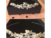 Wedding pearl tiara