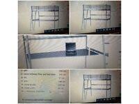 Top bunk bed with full length desk. IKEA Mattress plus IKEA mattress topper.