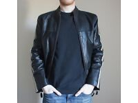 Black Men's Genuine Leather Jacket