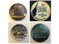 WANTED: Harry Potter Studio Tour/Cursed Child Button/British Library exhibition Badges