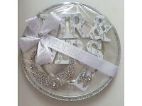 Mr & Mrs bridal wedding couple wife gift set