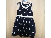 Little girls Next party dress, black and cream, age 4-5 yrs