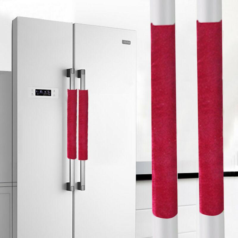 2PCS/Set Cloth Refrigerator Handle Cover Kitchen Appliance R
