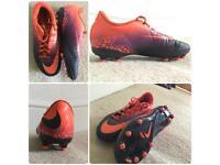 Nike Hypervenon football boots, size UK2