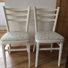 2 shabby chic dining chairs