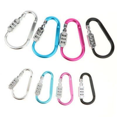 - Aluminum Lock Combination Carabiner Keychain For Outdoor Camping Hiking,Luggage