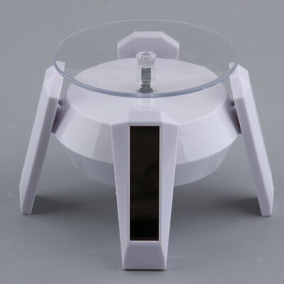 Solar Powered Rotating Rotary Display Holder Turntable Collectible Show Case